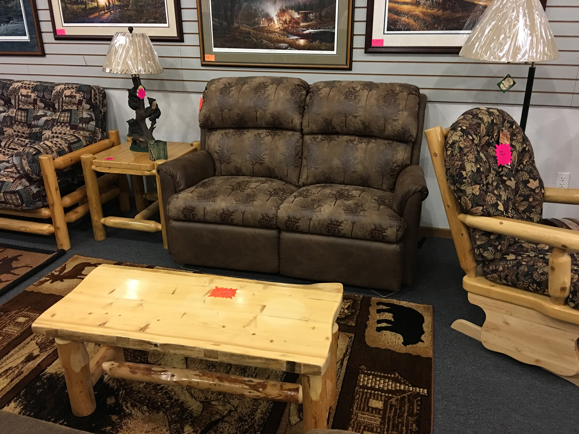 holiday-furnishings-recliner-loveseat