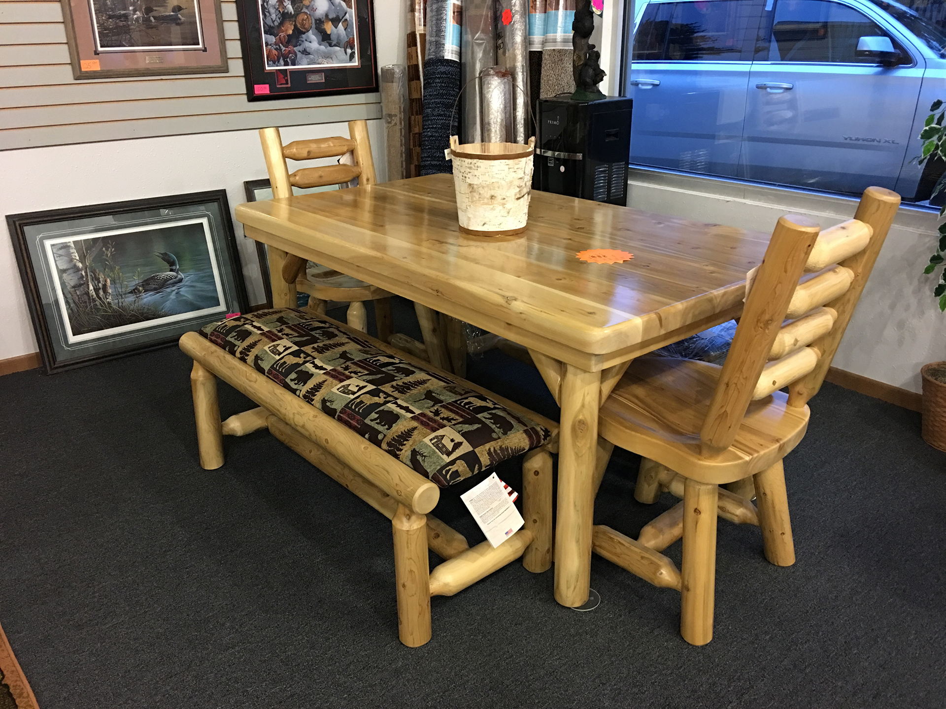 holiday-furnishings-wood-dining-table-chair