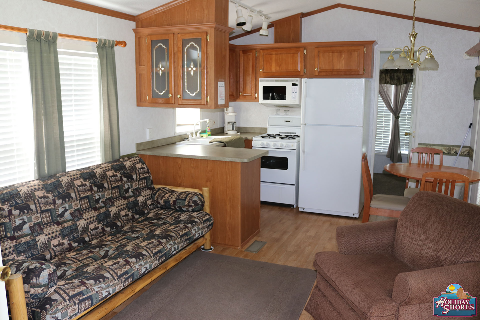 Holiday Shores Park Model Kitchen Living Area