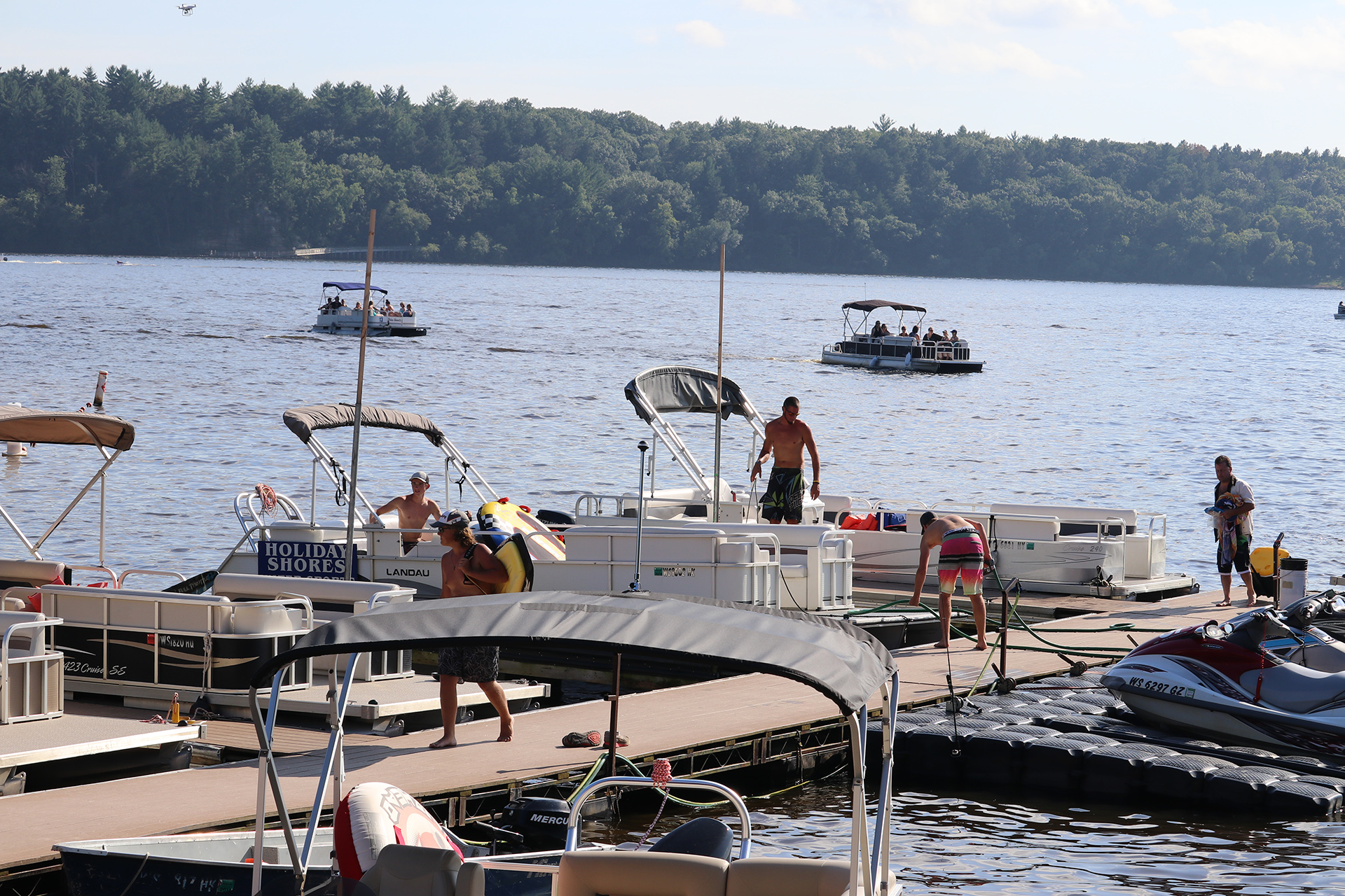 Holiday Shores Busy Dock